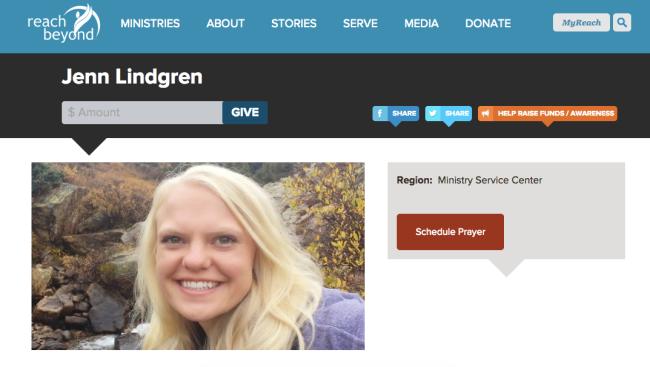 JennRaeLind's Support Raising Page